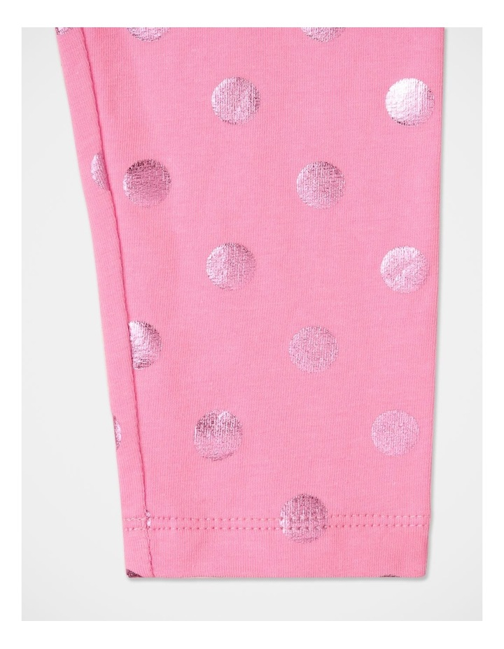 Essentials Metallic Legging Pink image 3