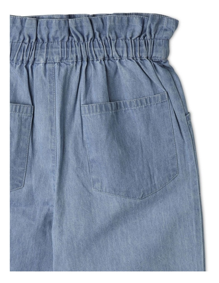 High-Rise Chambray Pant with Paperbag Waist image 4