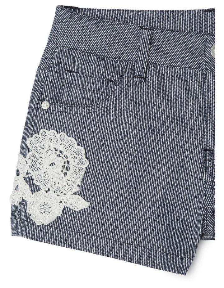 Stripe Short with Crochet Rose image 3