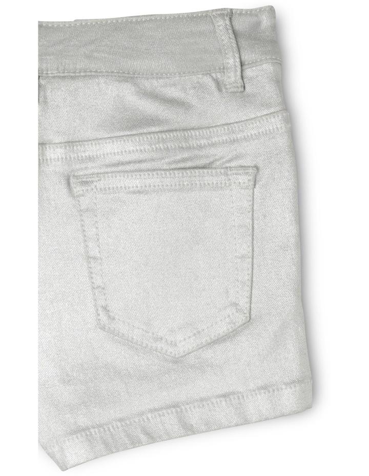 5 Pocket Short - Silver image 3