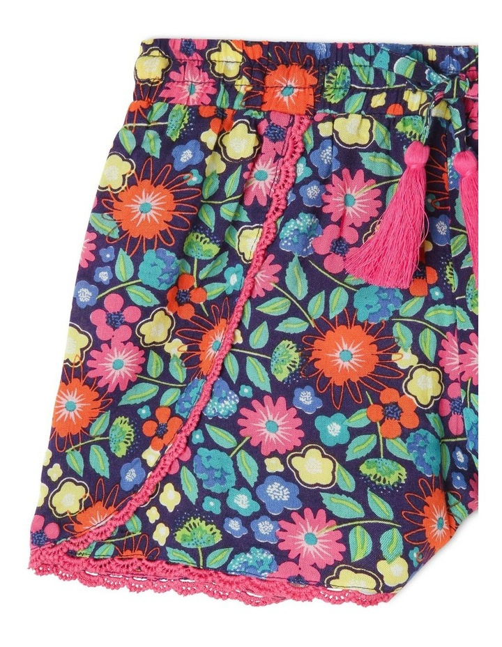 Woven Drape Short With Lace Trim image 2
