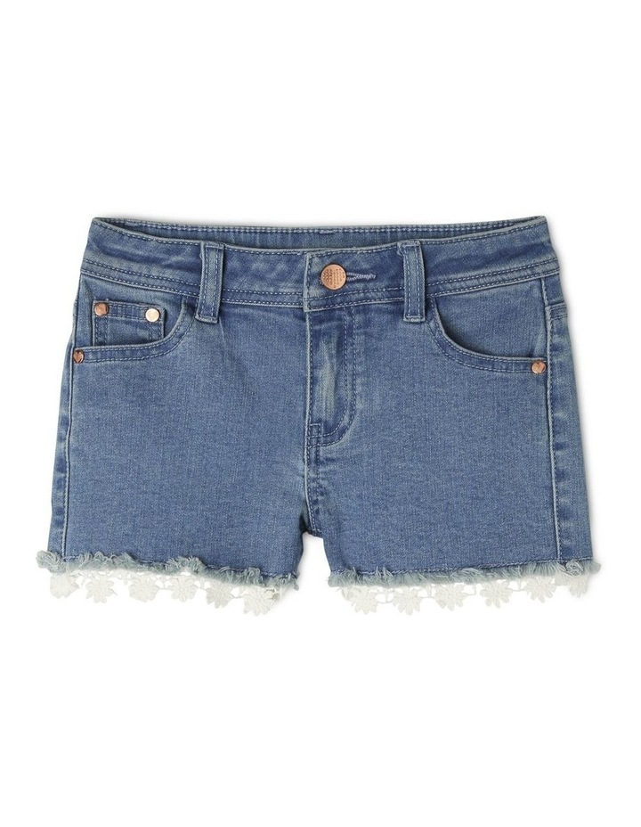 Denim Daisy Trim Short image 1