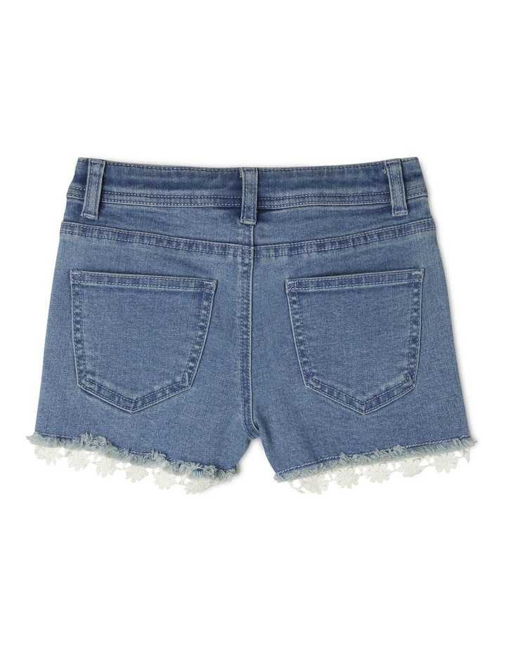 Denim Daisy Trim Short image 2