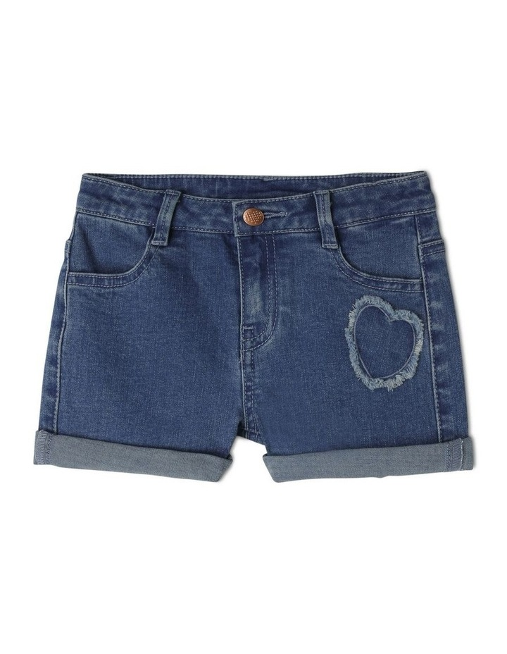 Denim Heart Shorts image 1