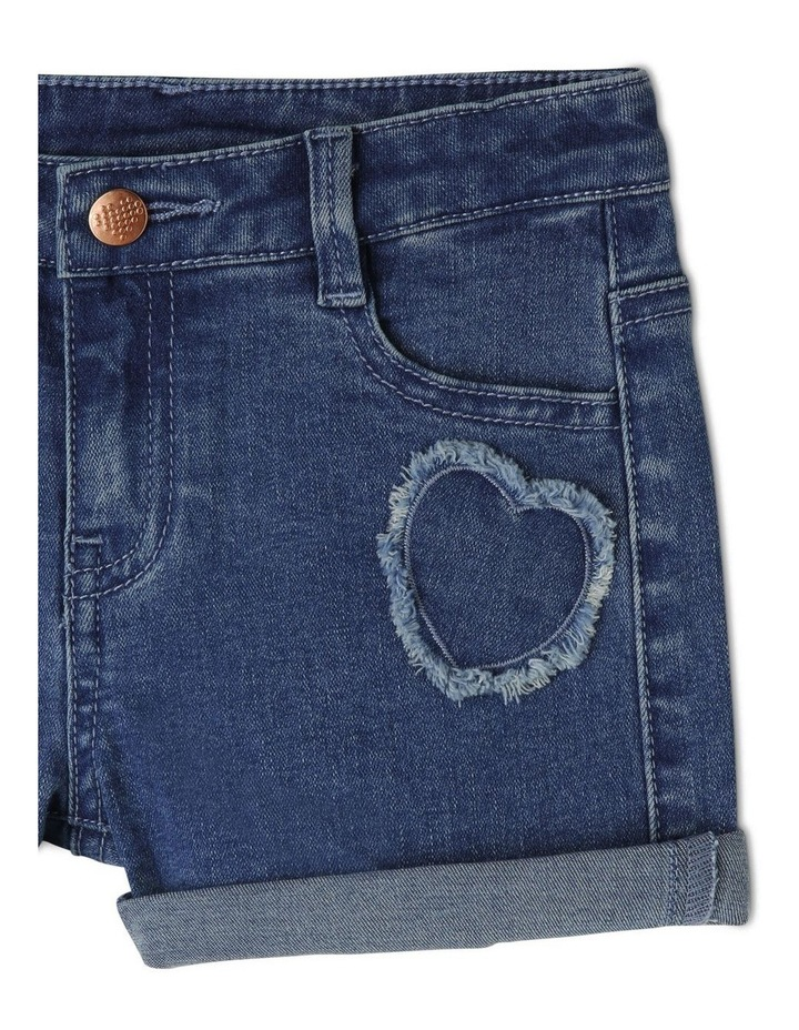 Denim Heart Shorts image 3