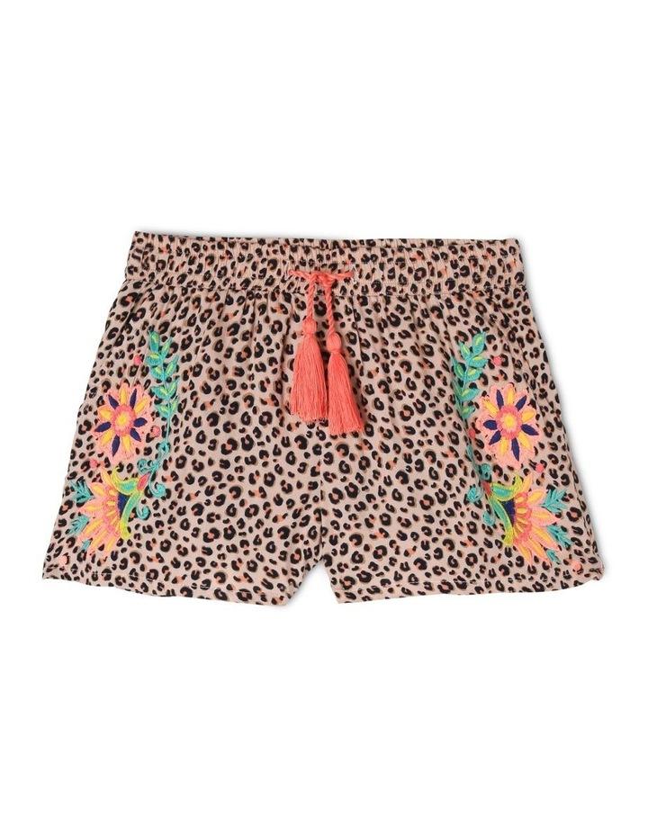 Leopard Floral Shorts image 1