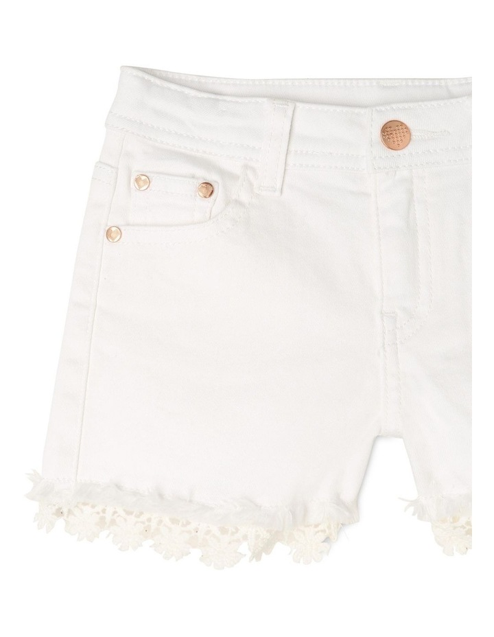 Denim Daisy Trim Short image 3