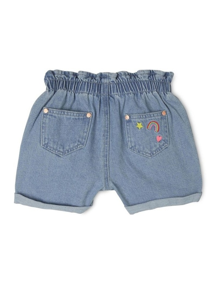Embroidered Paper Bag Waist Shorts image 2