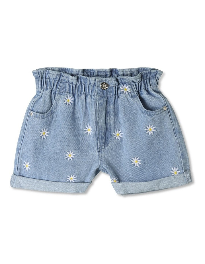 Paperbag Waist Denim Shorts image 1