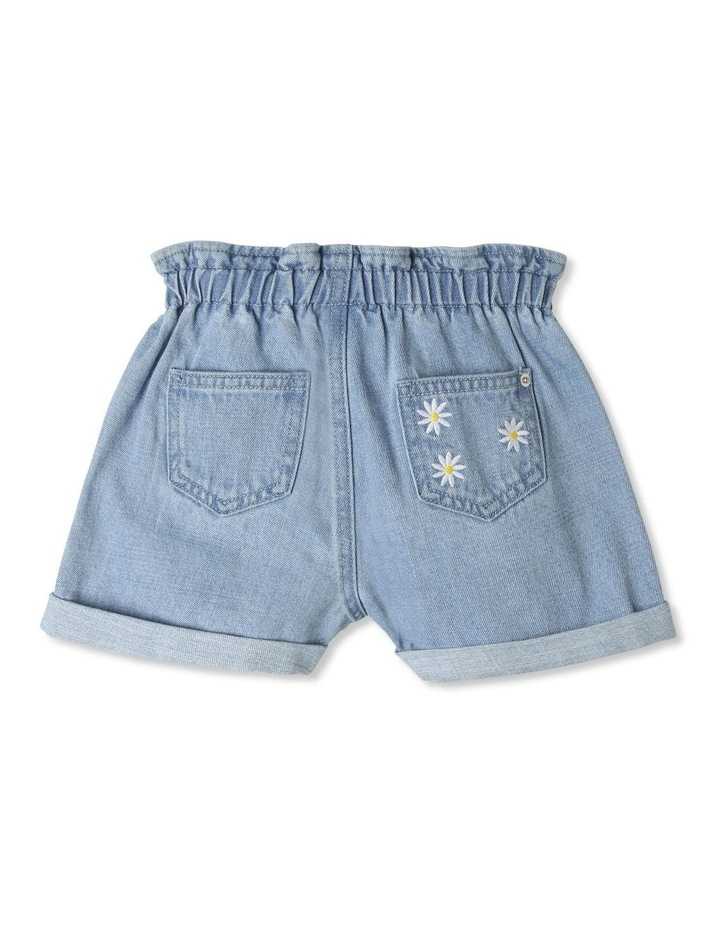 Paperbag Waist Denim Shorts image 2