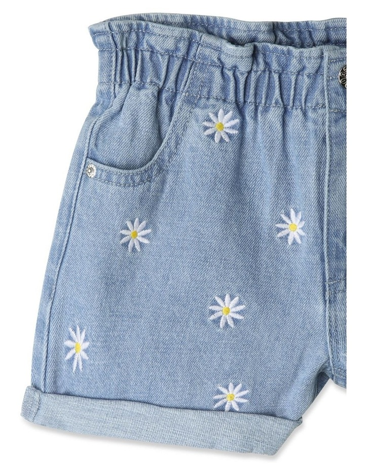 Paperbag Waist Denim Shorts image 3