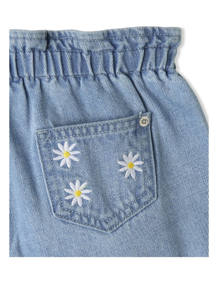 Paperbag Waist Denim Shorts image 4