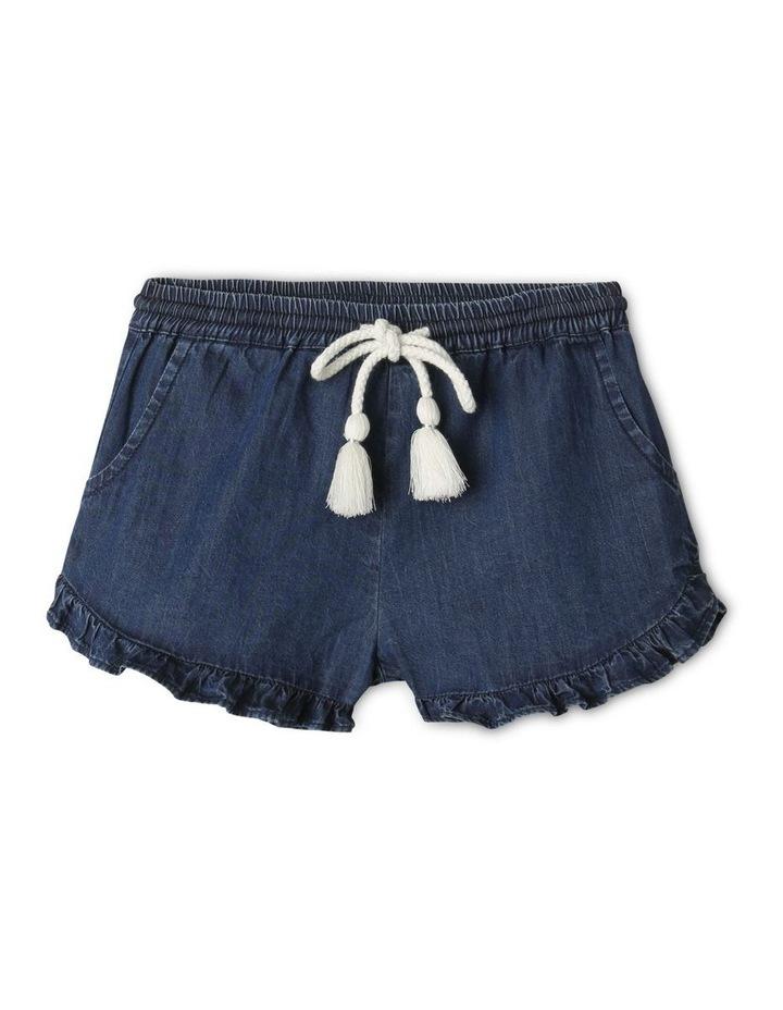 Essentials Woven Denim Shorts Dark Blue image 1
