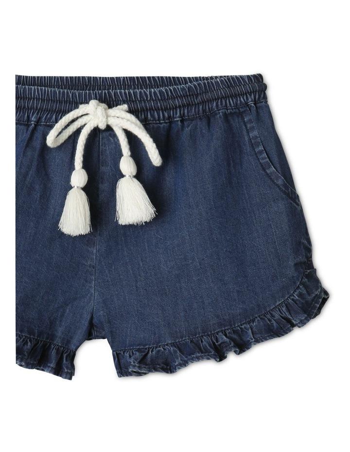 Essentials Woven Denim Shorts Dark Blue image 2