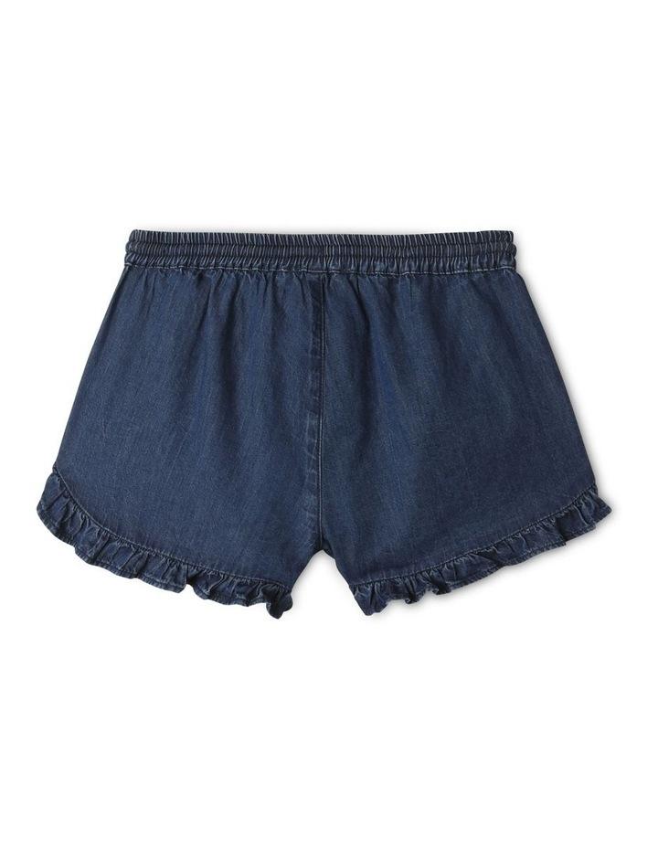 Essentials Woven Denim Shorts Dark Blue image 4