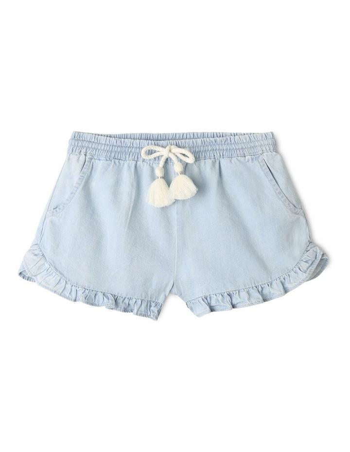 Essentials Woven Denim Shorts Light Blue image 1