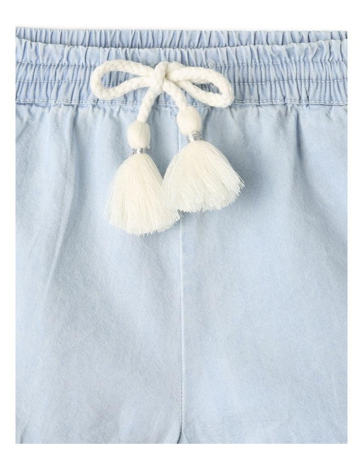 Essentials Woven Denim Shorts Light Blue image 2