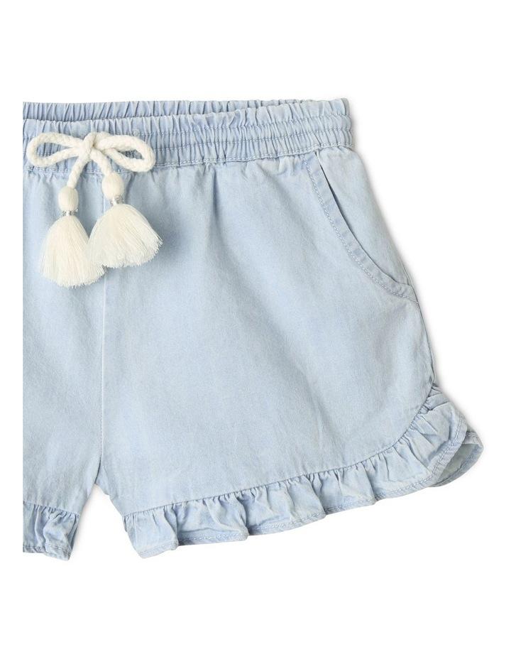 Essentials Woven Denim Shorts Light Blue image 3