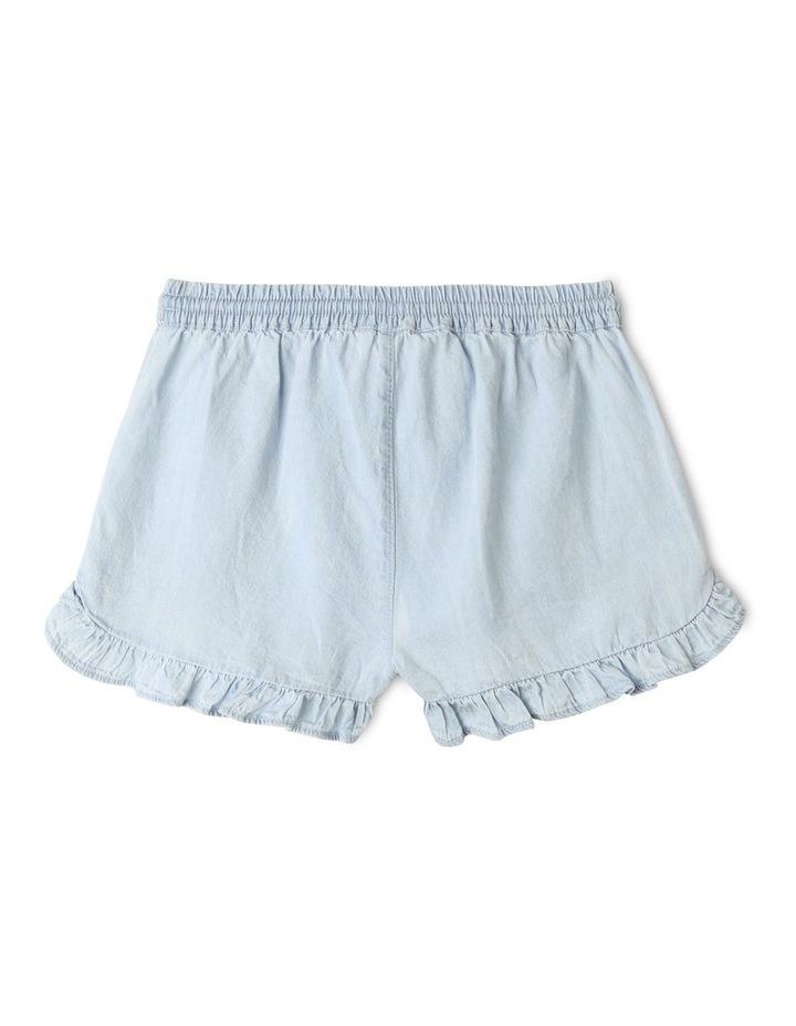 Essentials Woven Denim Shorts Light Blue image 4