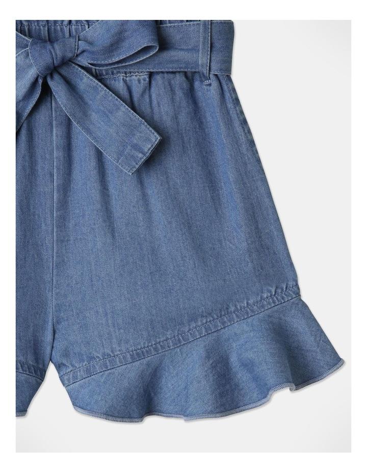Denim Woven Frill Leg Drape Shorts image 2