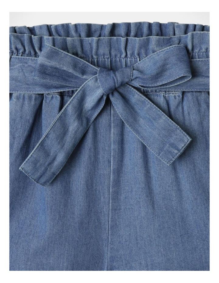 Denim Woven Frill Leg Drape Shorts image 4