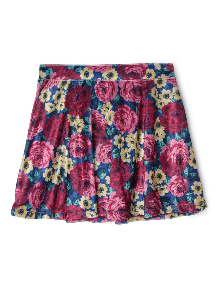Printed Velour Flip Skirt image 1