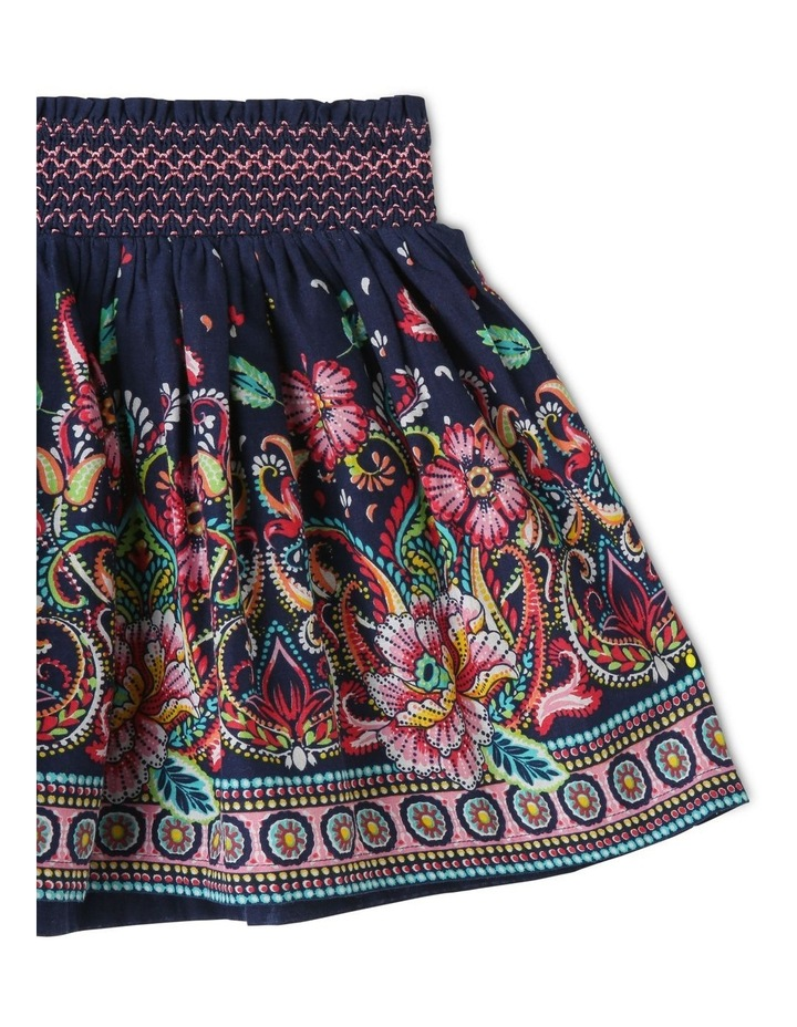 Woven Shirred Waist Skirt image 2