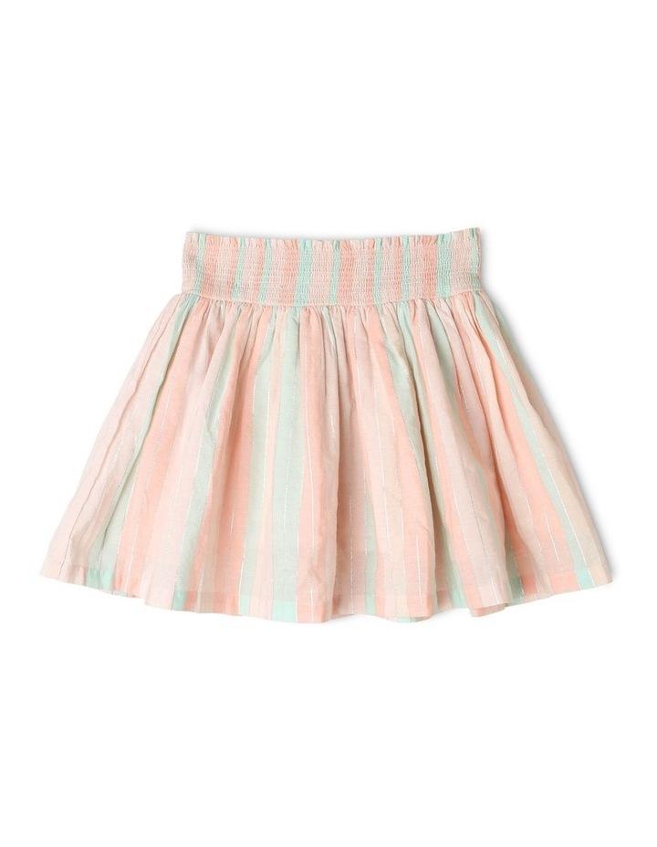 Woven Skirt With Shirred Waist image 1