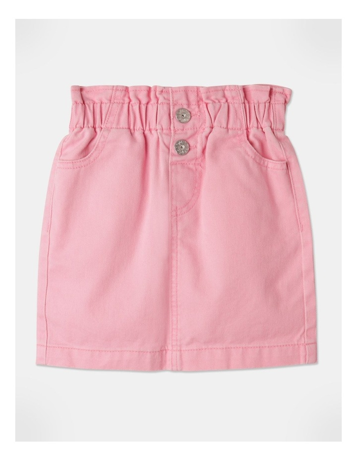Denim Paperbag Waist Skirt Pink image 1