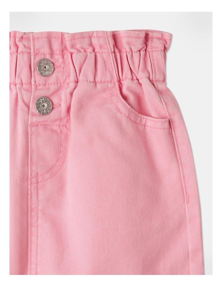 Denim Paperbag Waist Skirt Pink image 2