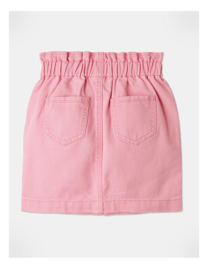 Denim Paperbag Waist Skirt Pink image 4