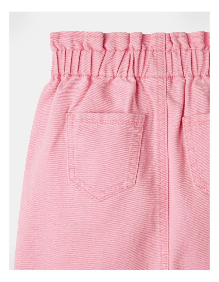 Denim Paperbag Waist Skirt Pink image 5