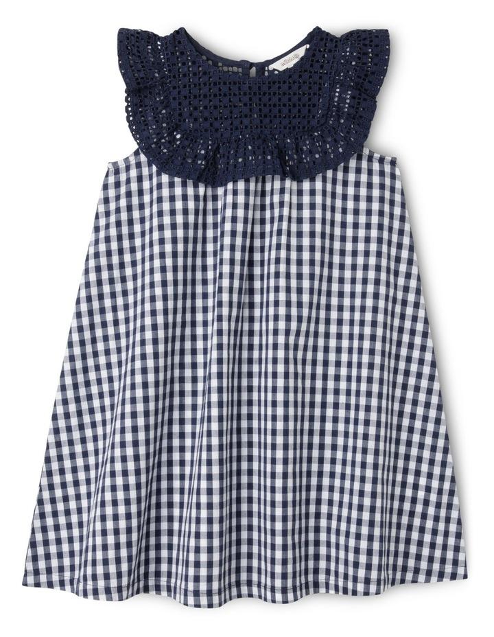 Gingham Broderie Yoke Dress image 1