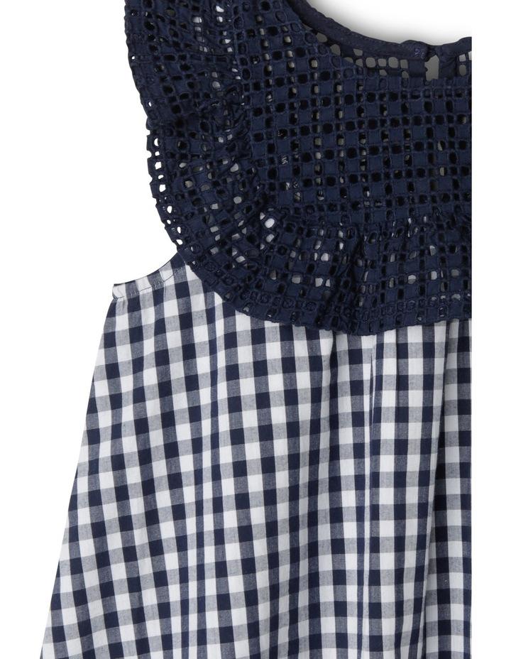 Gingham Broderie Yoke Dress image 2