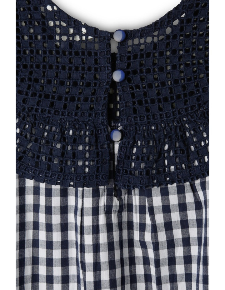 Gingham Broderie Yoke Dress image 3