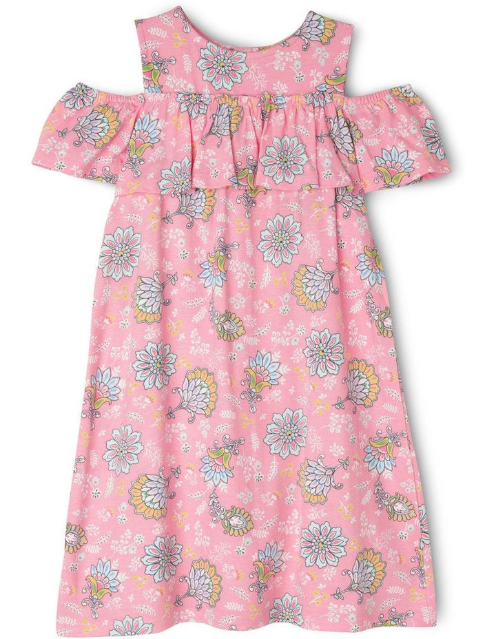 Floral Cold Shoulder Dress image 1