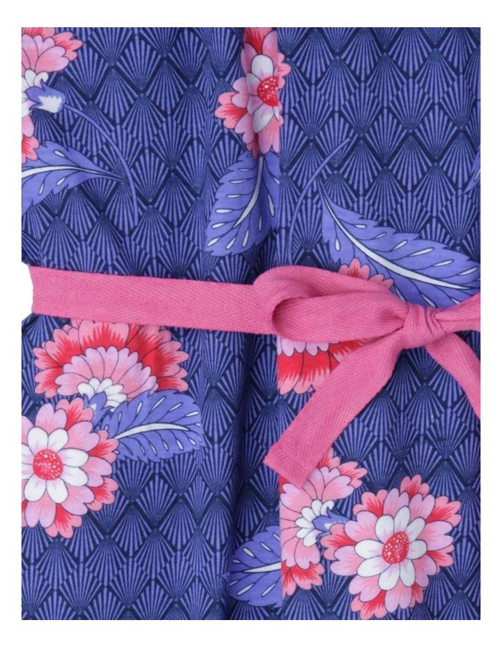 Frill Neck Knit Dress With Tie Belt image 2