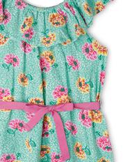 Milkshake - Frill Neck Knit Dress With Tie Belt
