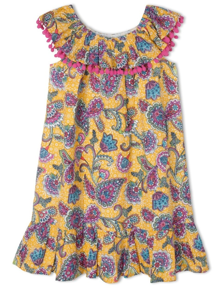 Woven Dress With Frill image 1
