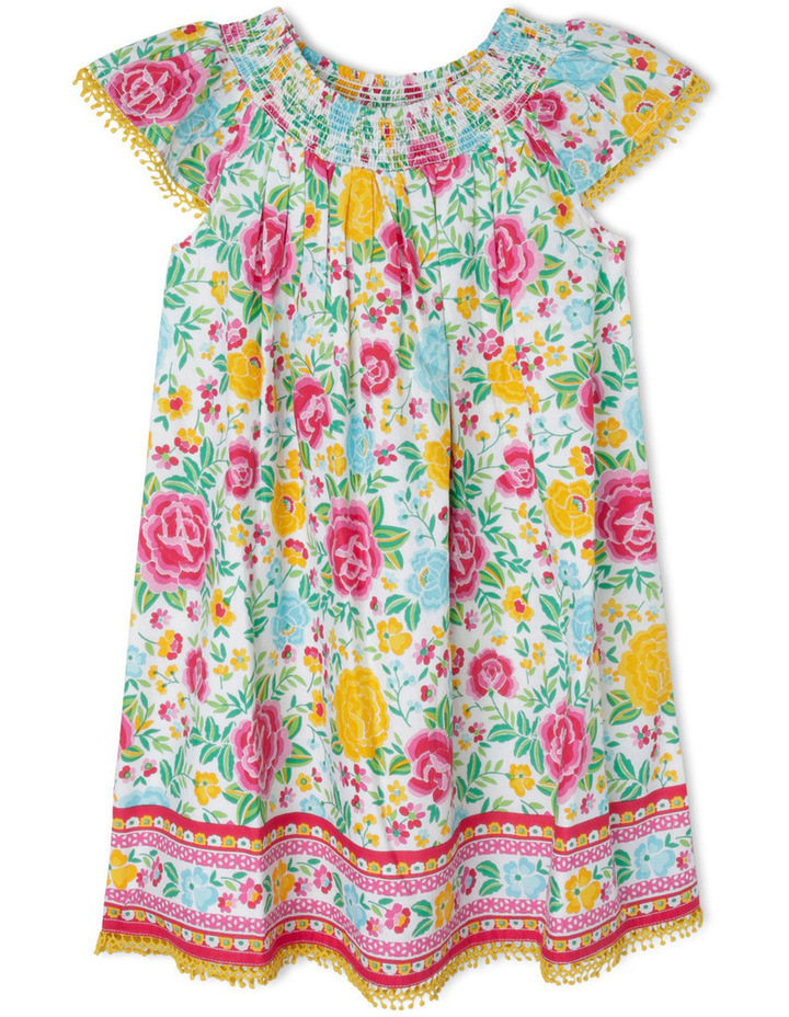 Woven Shirred Neck Dress image 1