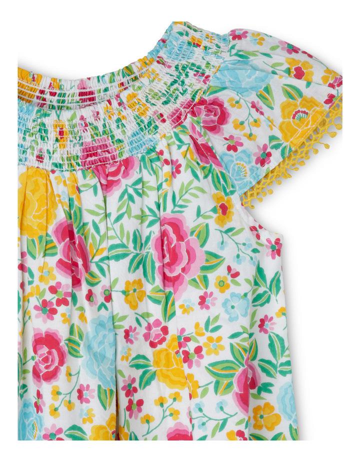 Woven Shirred Neck Dress image 2