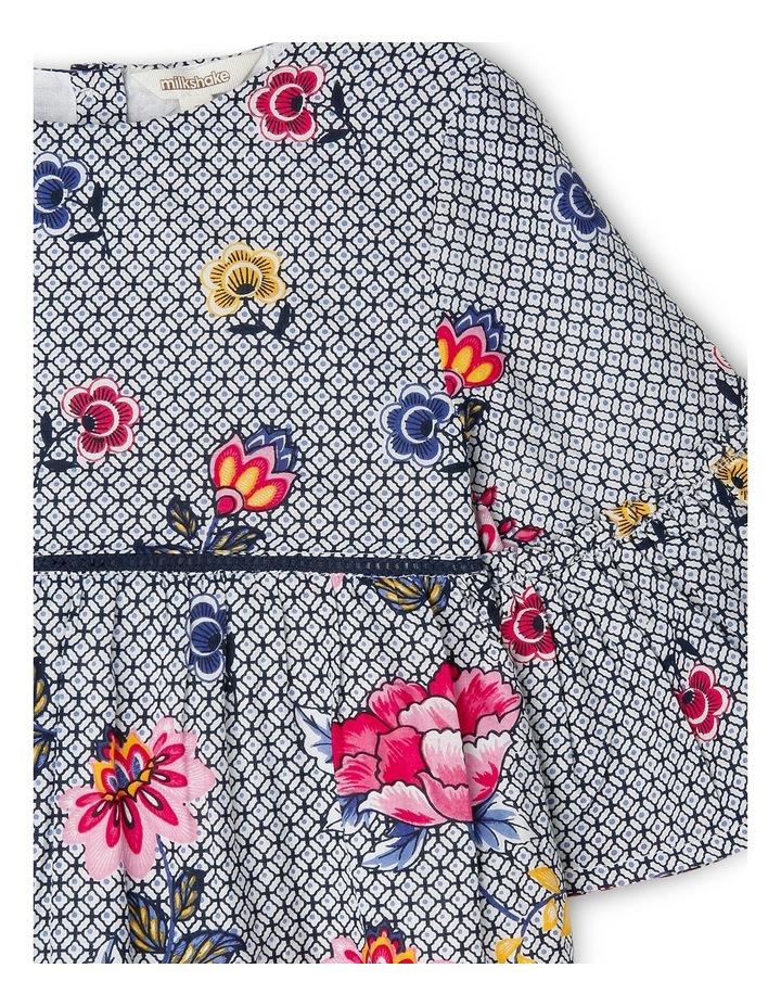 Woven Bell Sleeve Dress LGS19101 image 2