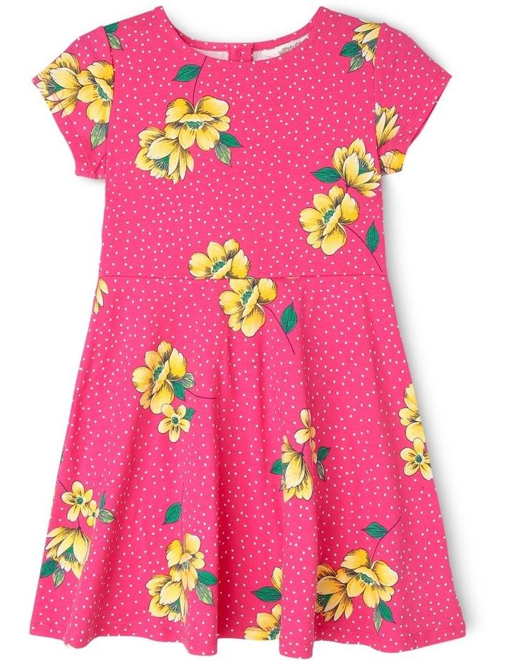 Knit Cap Sleeve Skater Dress image 1