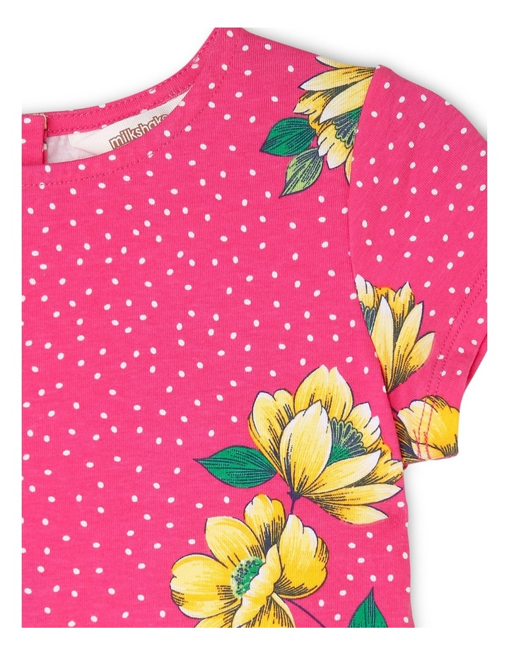 Knit Cap Sleeve Skater Dress image 2