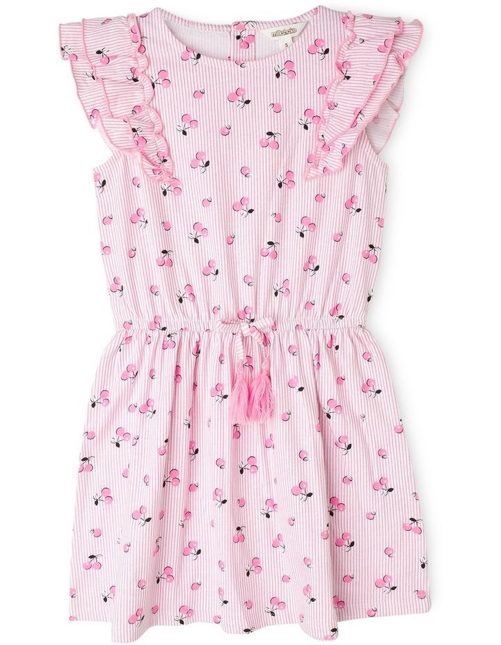 Knit Flutter Sleeve Dress image 1