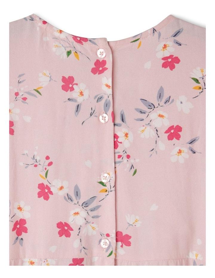 Woven Short Sleeve Wrap Dress image 3