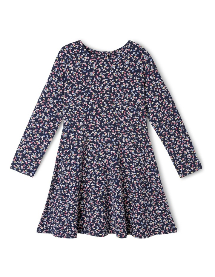 Knit Long Sleeve Skater Dress image 1