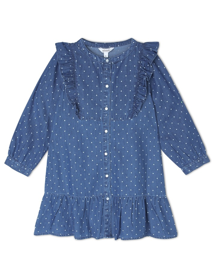 Woven Long Sleeve Frill Dress image 1