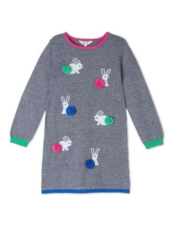 Milkshake Long Sleeve Knit Intarsia Dress 7cb9871035