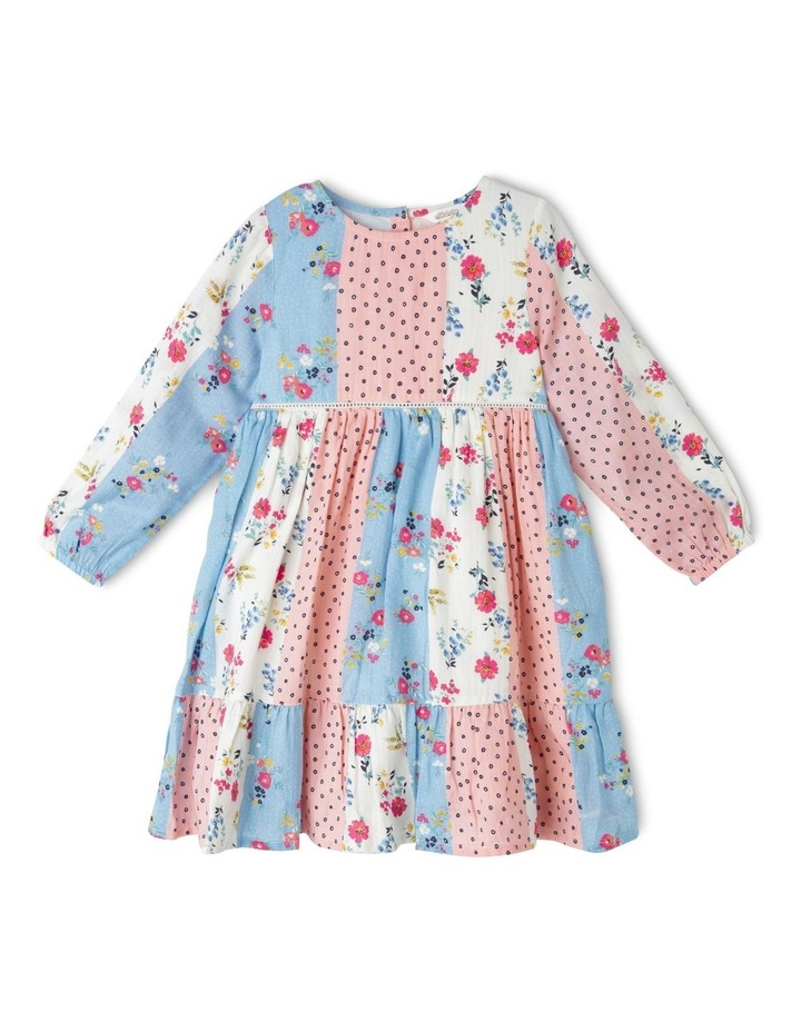 Long Sleeve Woven Tiered Dress image 1